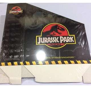 LIMITED  Universal Studio JURASSIC PARK Cardboard Book Shelf