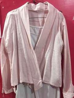 Cardigan pink // atasan pink // baju outer