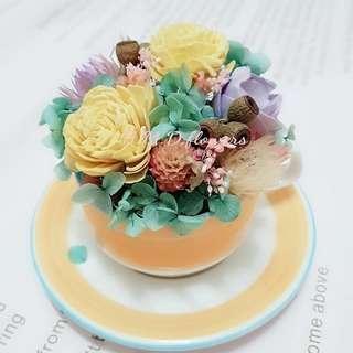 🚚 乾燥花 桌花居家裝飾 禮物 不凋花 繡球花