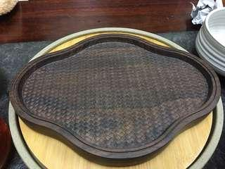 Chinese Solid Wood Tea Tray (素云干泡盘)