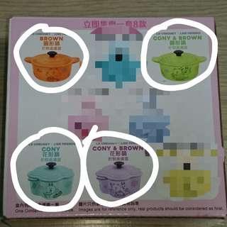 7-11 Le Creuset 小盒 : 橙,青,綠,紫