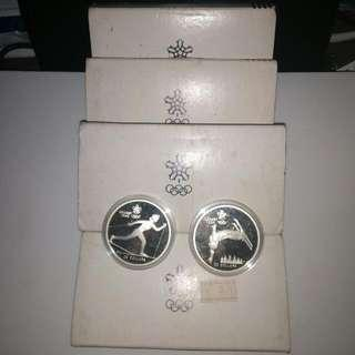 1985-1987 Winter Olympics Canadian Silver Proof Coins