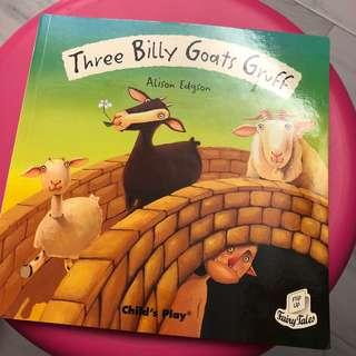 英文書小朋友書 Three Billy Goats Gruff