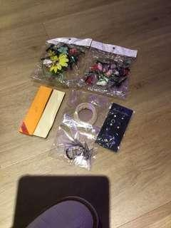 Beautiful hair accessories set and earring set all for $5.00