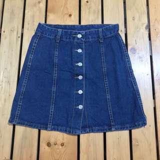 Topshop Inspired Denim Buttondown Skirt