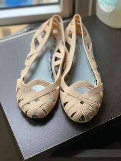 Jelly Shoes - Beige US 8