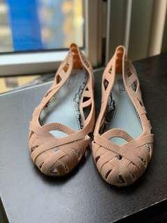 Jelly Shoes - Nude Brown  US Size 9