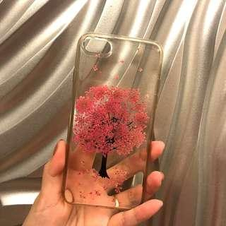 🚚 Iphone 7/8 手工乾燥押花 透明軟殼全包手機殼