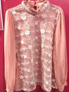 Butik Bunga pink Atasan || Baju kondangan || baju pesta || baju murah pink