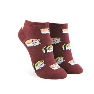 🚚 BNWT Forever 21 F21 Sushi Cat Ankle Socks