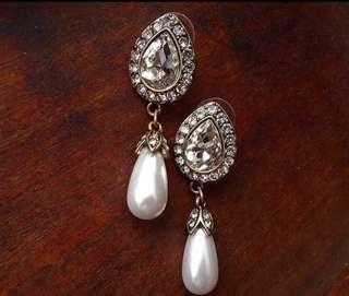 復古珍珠耳環