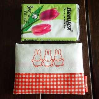 Miffy tissue holder, 100% cotton made in Japan