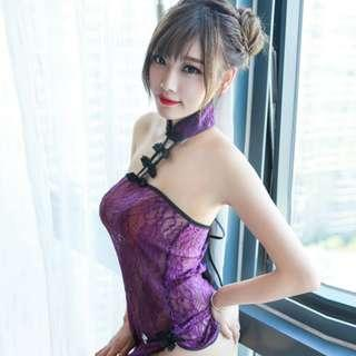🚚 Oriental Style Lace Qi Pao Lingerie Dress