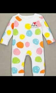 [PRICE REDUCED] Baby romper - i love papa and mama