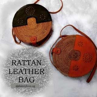 Rattan Leather Bag