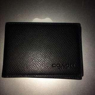 coach men card wallet