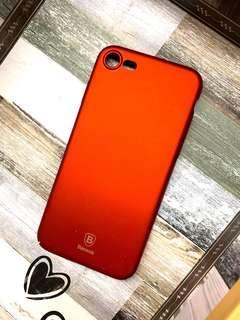 🚚 iPhone 7超美磨砂紅手機殼