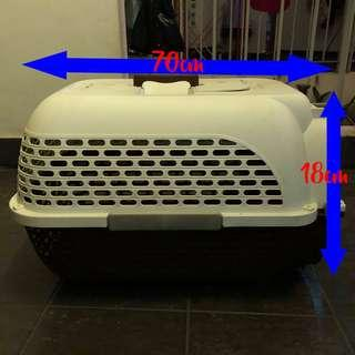 Dog Carrier (Brown and White)