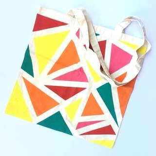 Handpainted Cotton Tote Bag  #EVERYTHING18
