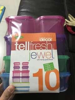 Tellfresh jewel tupperware (dalam ada 10)