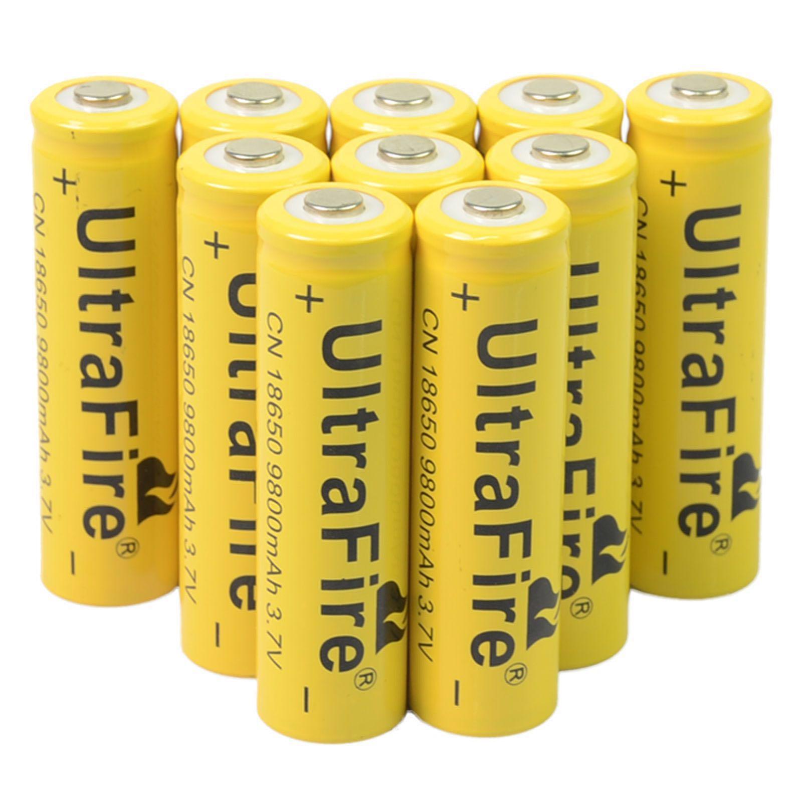 3 7V 18650 UltraFire 9800mAh Li-ion Rechargeable Battery For