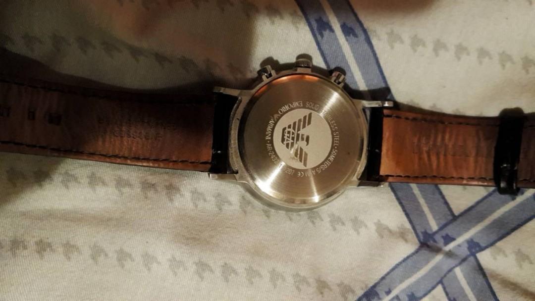二手 正版專櫃 亞曼尼 手錶 可小刀(附原廠盒,保證卡,說明書)