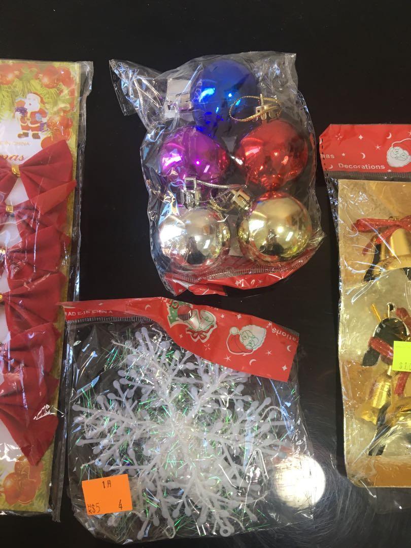 聖誕裝飾 (全部total$15)