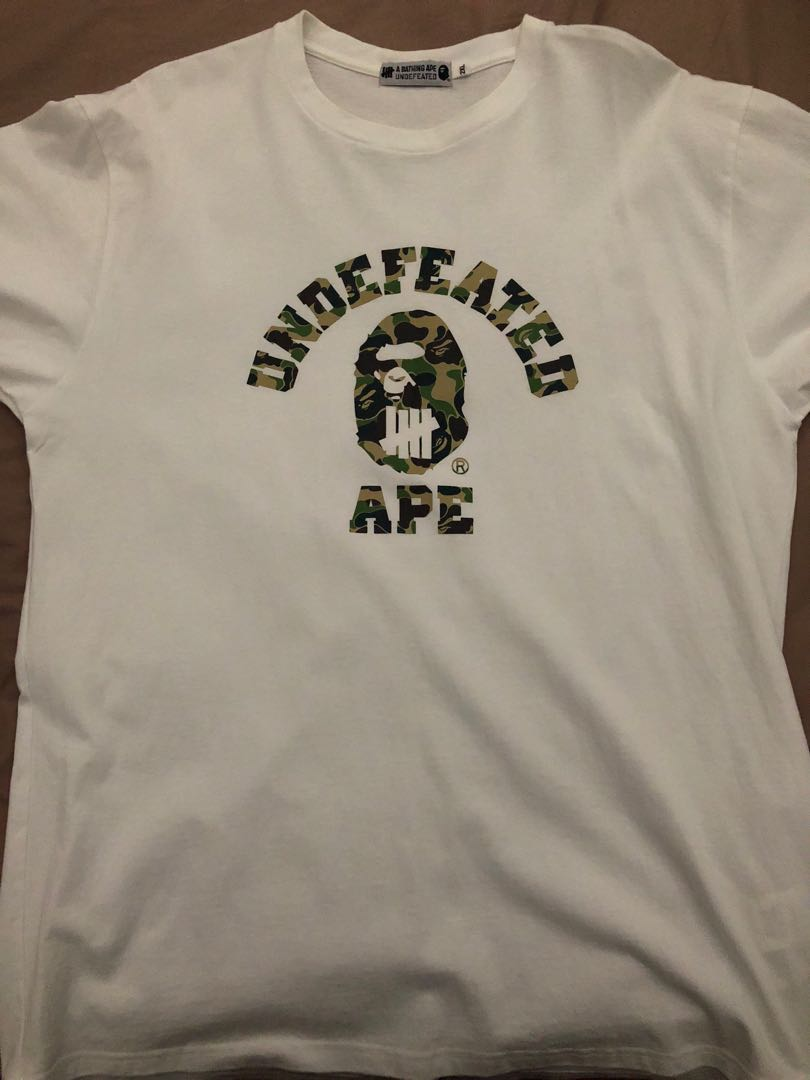 7b8e66af5 A Bathing Ape x Undefeated, Men's Fashion, Clothes, Tops on Carousell