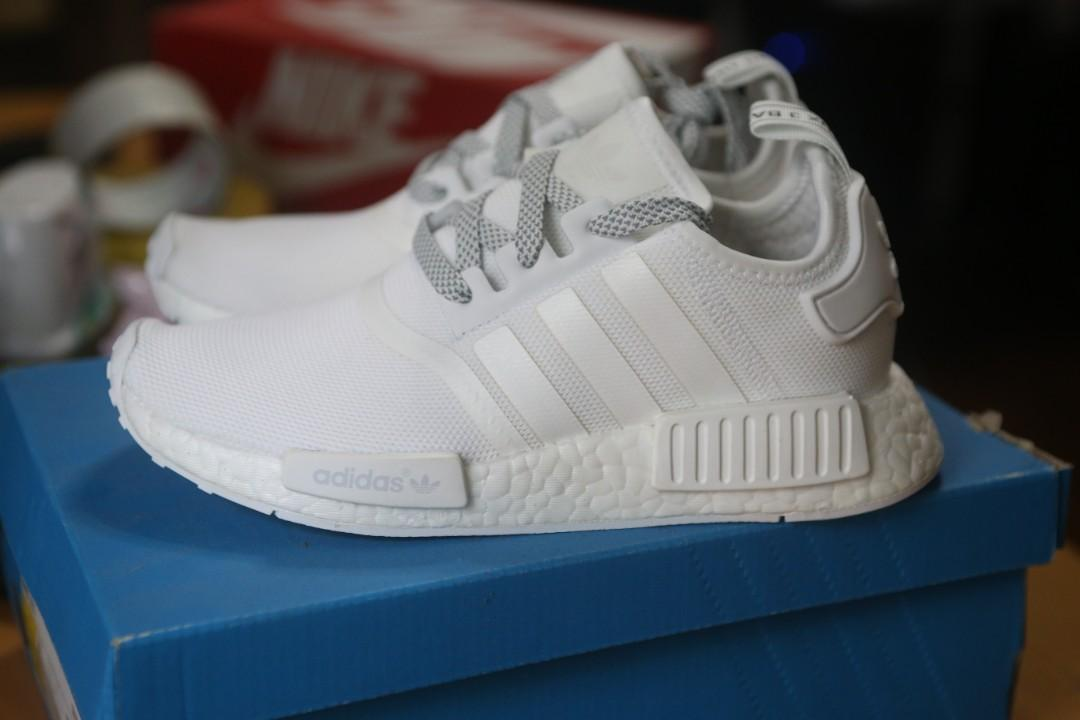 Adidas Nmd R1 White Reflective Men S Fashion Footwear Sneakers