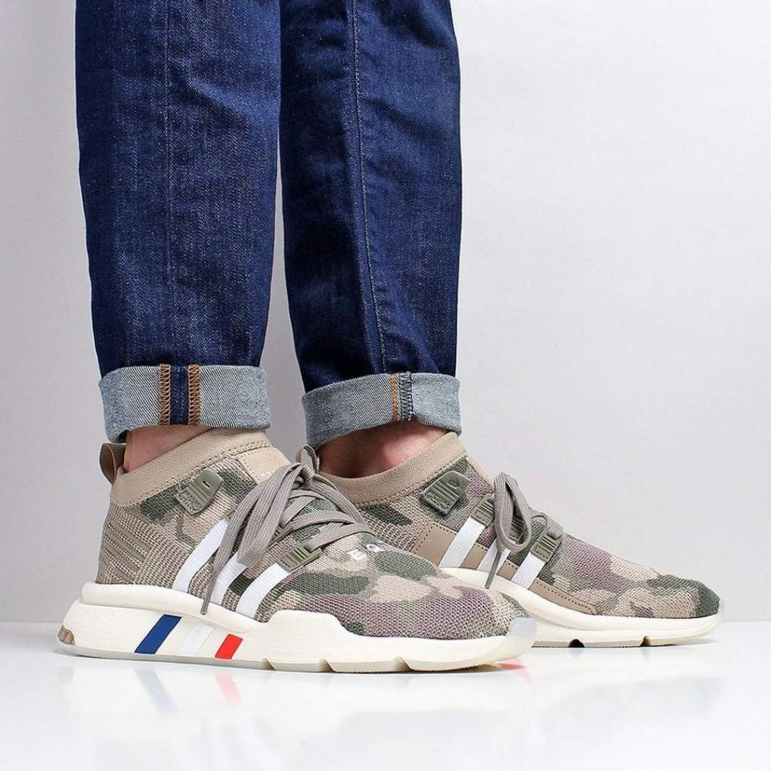Adidas Originals EQT Support Mid ADV Primeknit Shoes – Trace Khaki ...