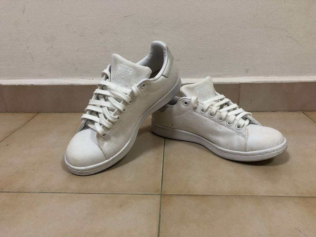 Adidas Stan Smith Canvas White UK 6 US 6.5 c2eddce18