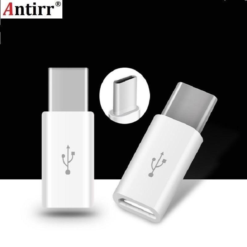 Antirr Universal USB 3.1 Type-C Male Connector to Micro USB Female Converter USB-C