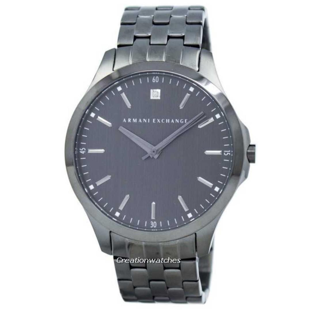 671f30db6 Armani Exchange Hampton Diamond Accent Quartz AX2169 Men's Watch ...