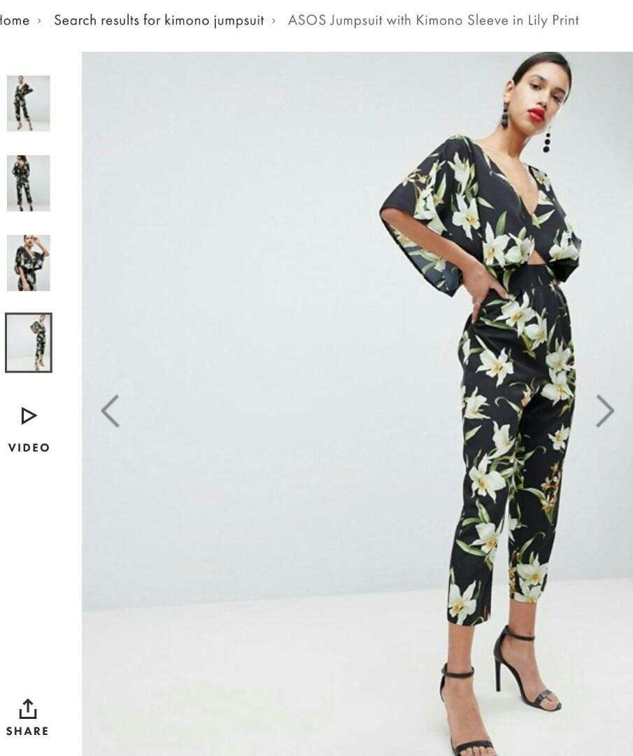 96d026e321 Asos floral jumpsuit