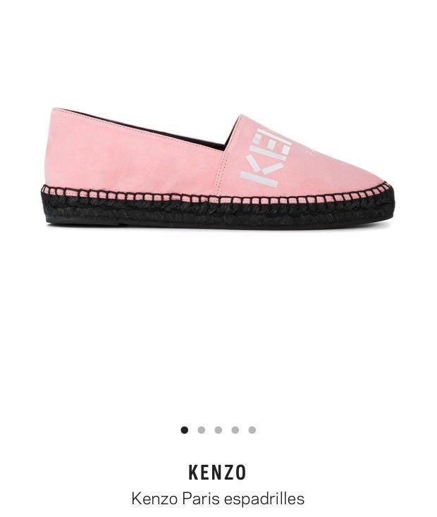 560ba9d62b4 AUTHENTIC KENZO Espadrilles (pink suede), Women's Fashion, Shoes ...