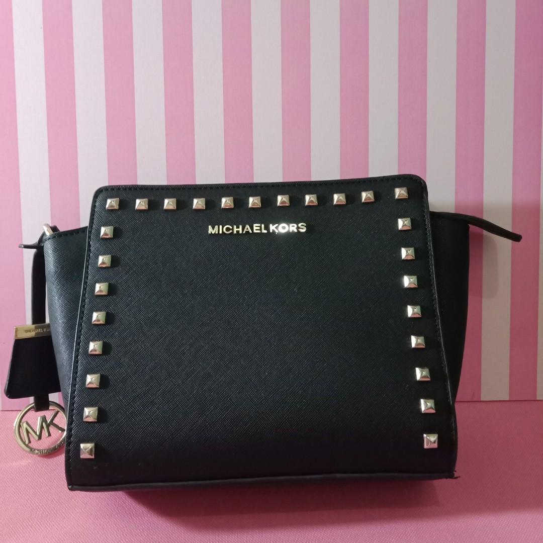 8a8b1f839218 Basic Black Studded Clutch / Bag by Michael Kors, Women's Fashion ...