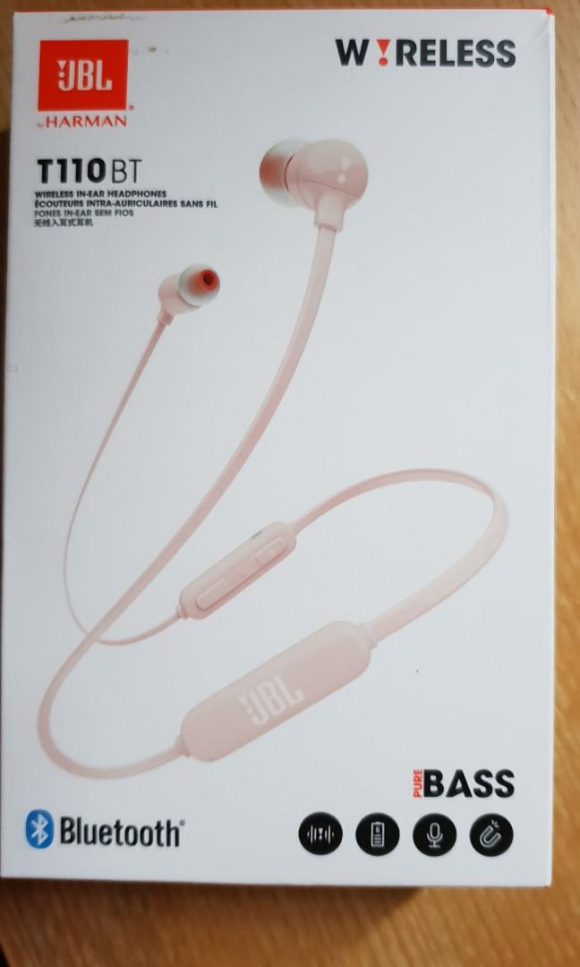 Brand New*Pink JBL T110BT Headphones, Electronics, Audio on