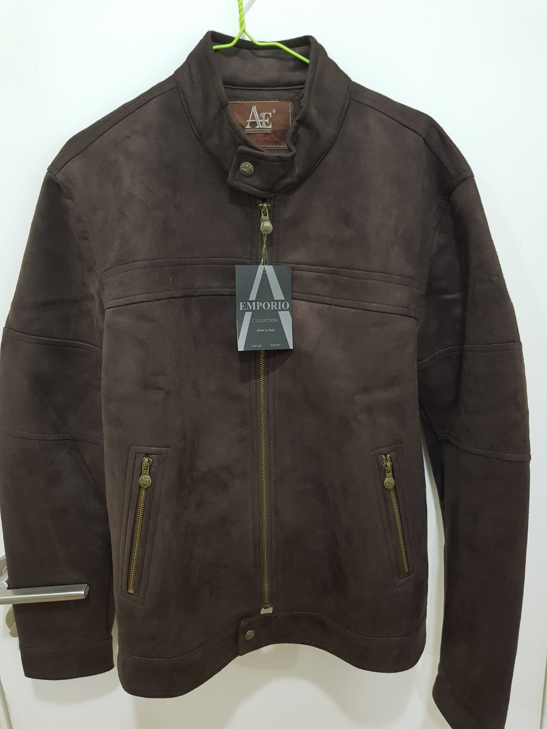 Brown Suede Leather Mens Jacket Men S Fashion Clothes Tops On