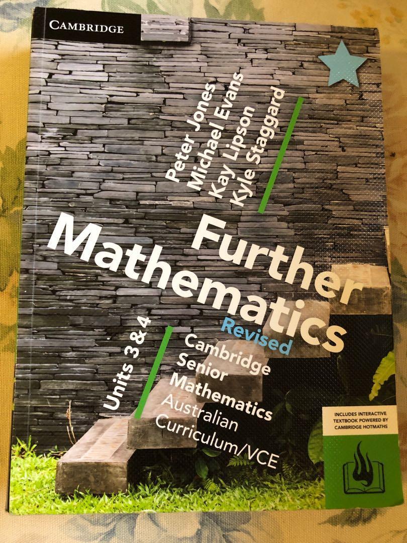 Cambridge Units 3/4 Further maths textbook