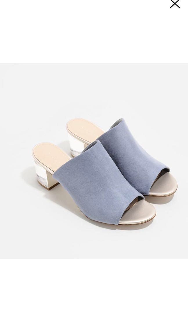 f981130aca3 C&K Charles and Keith Lucite Heels Mules
