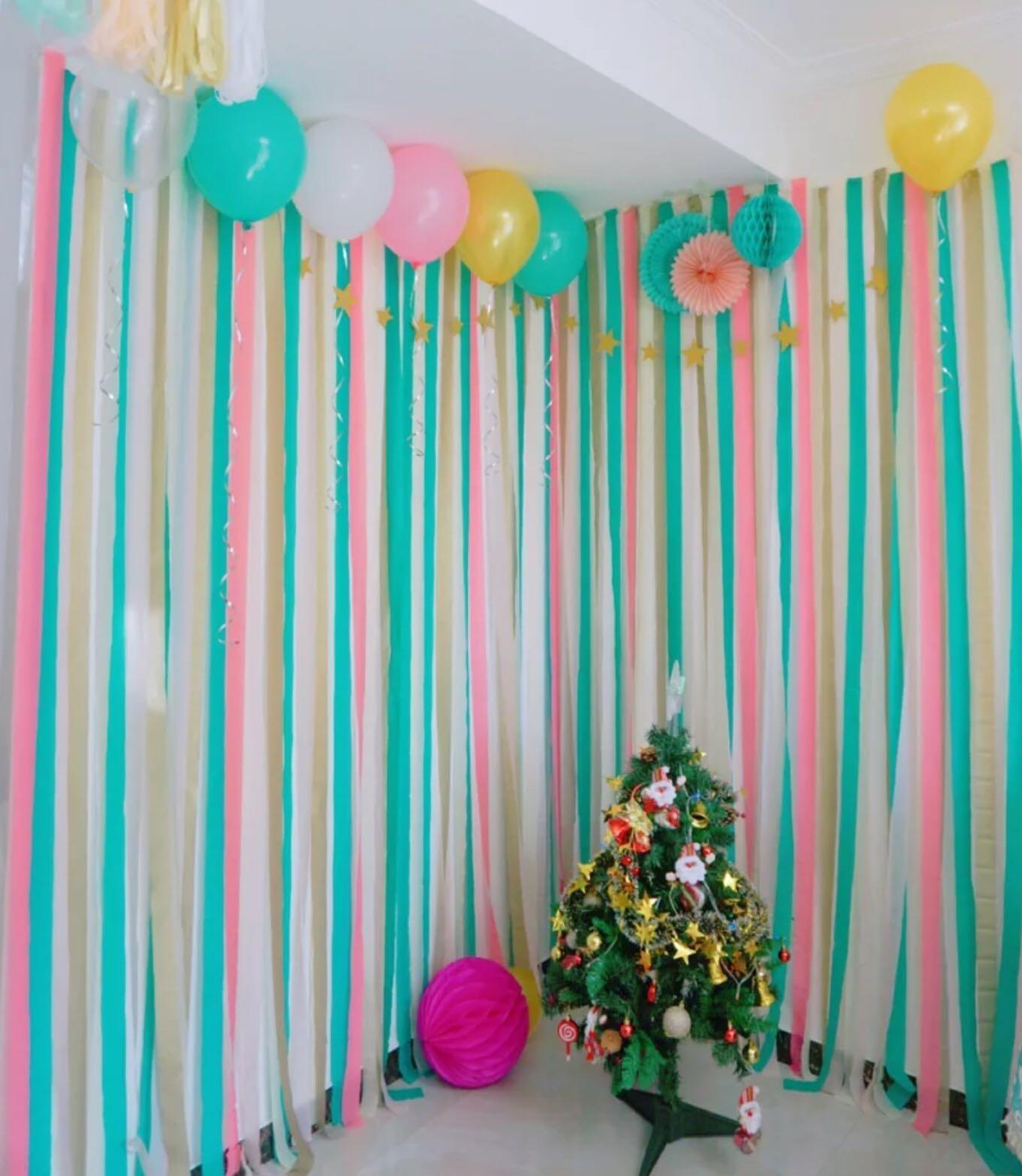 23m DIY Crepe Paper Party Streamer Celebration Garland