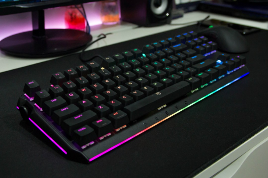 911018fed20 Drevo BladeMaster TE Wired Tenkeyless Mechanical Gaming Keyboard ...