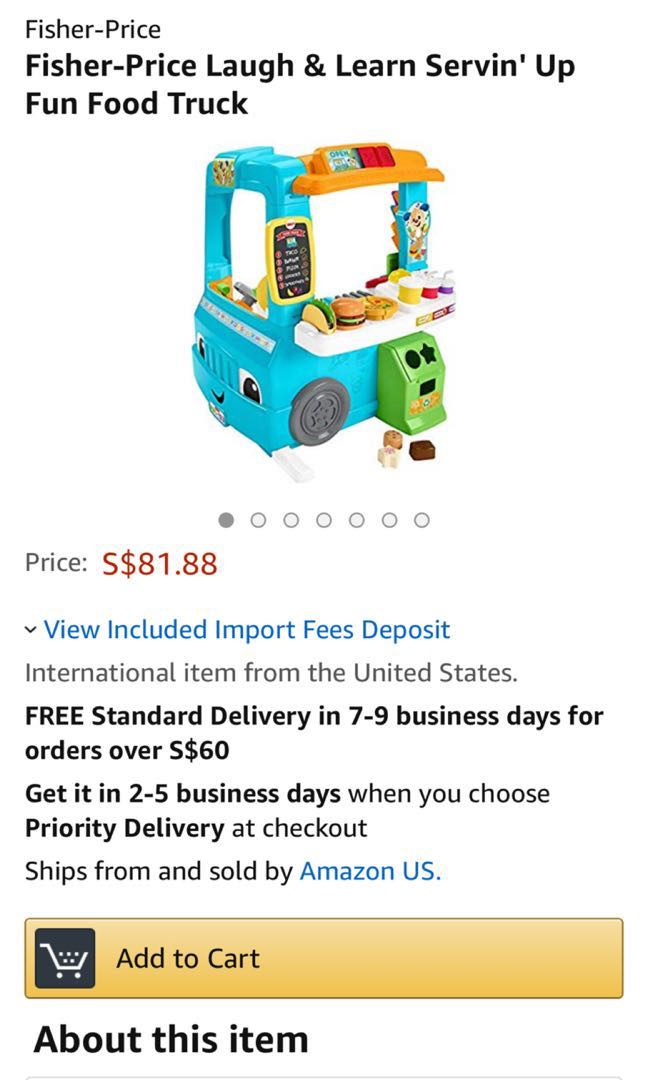 02a7df22ccb7 Fisher Price Laugh   Learn Food Truck