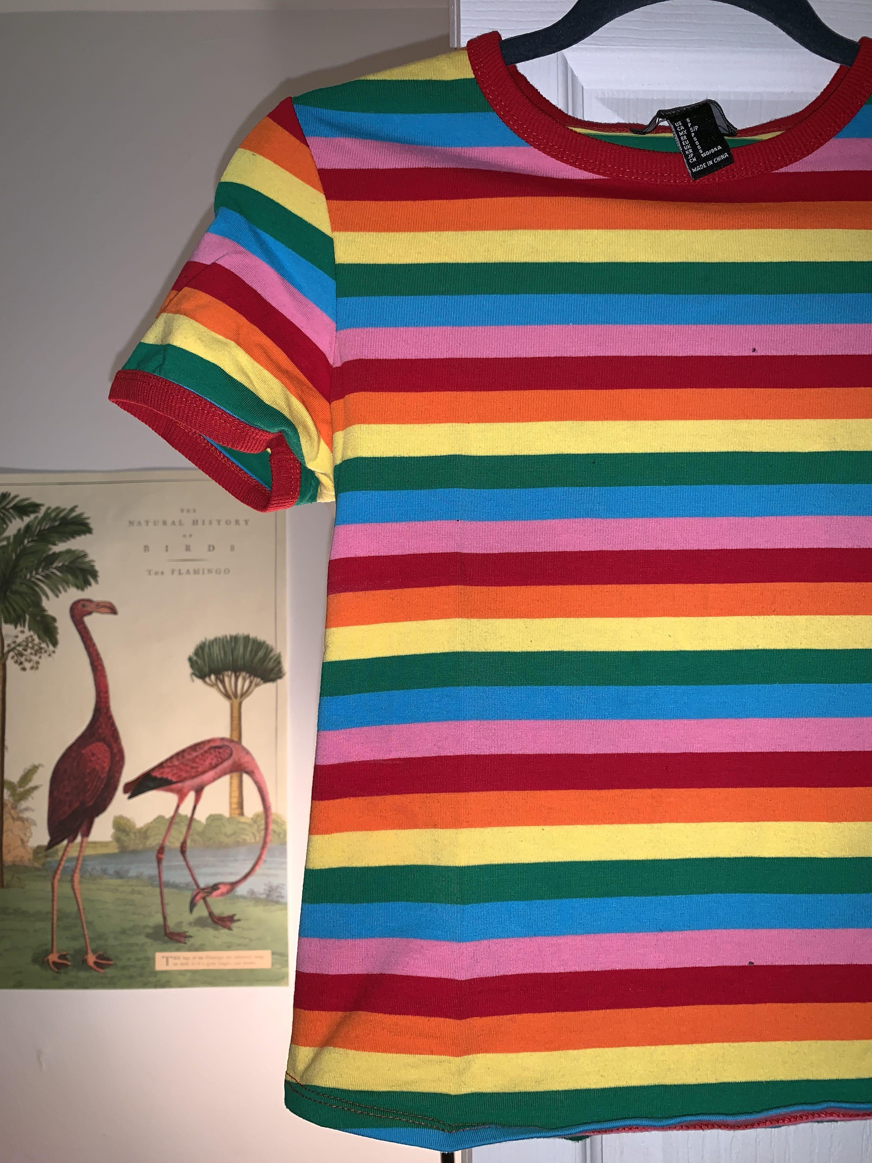 Fitted rainbow shirt