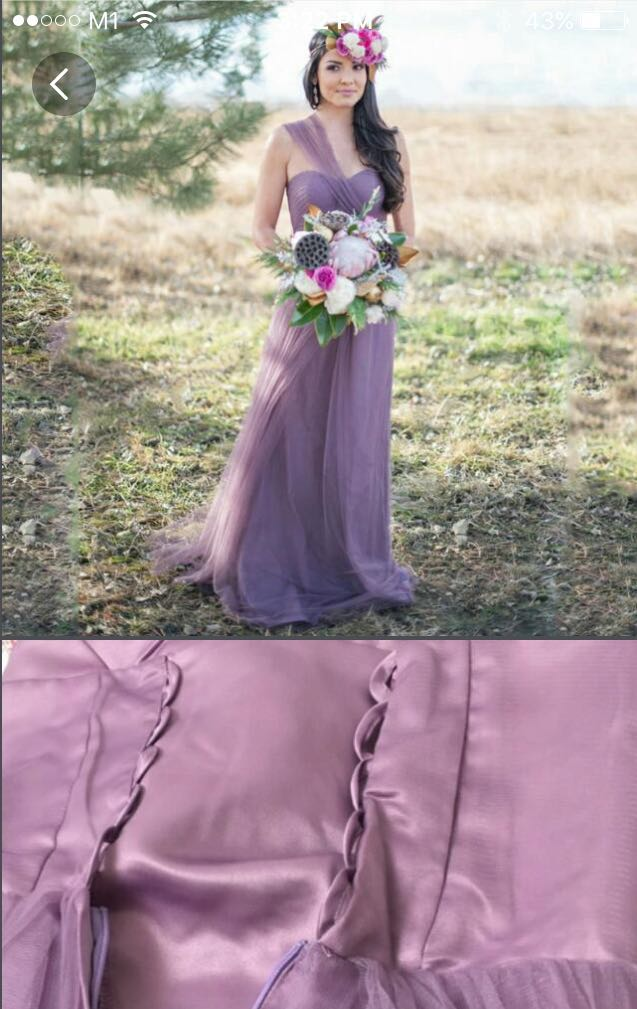 Flash Sale Dark Purple Dress Gown Prom Wedding Women S Fashion