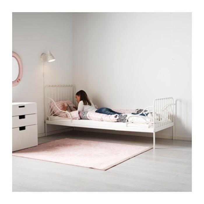 Ikea Minnen white extendable adjustable toddler bed