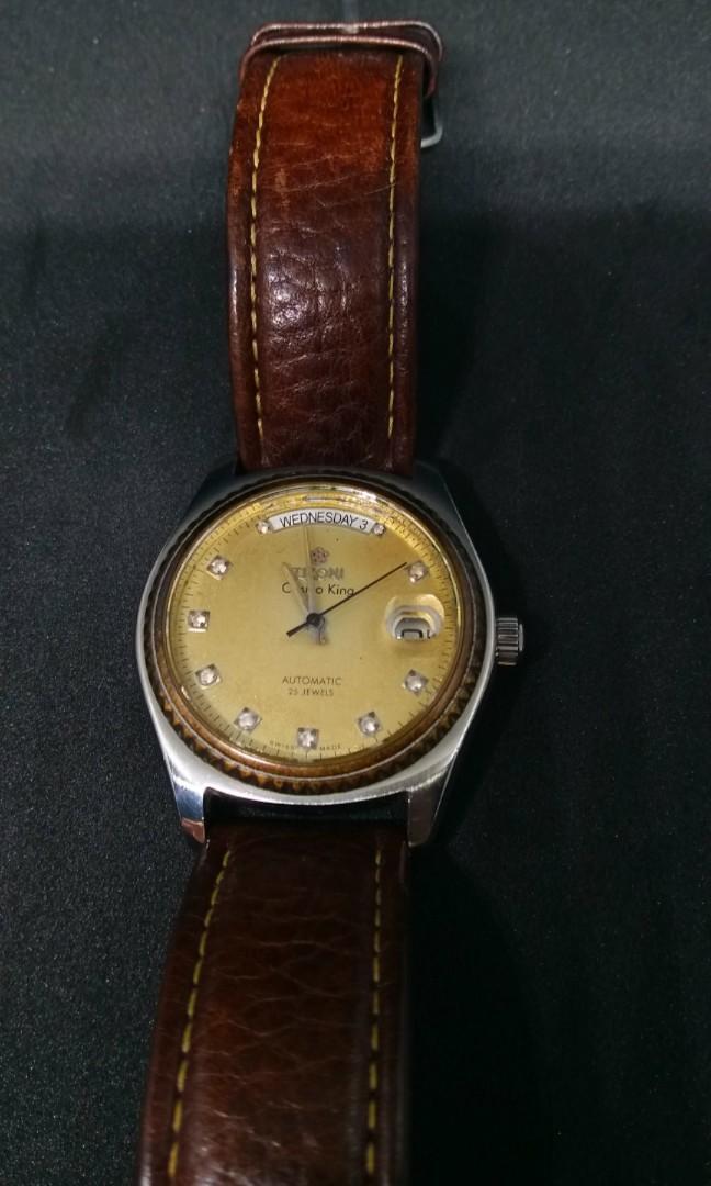 Jam tangan Titoni Cosmo King automatic Vintage