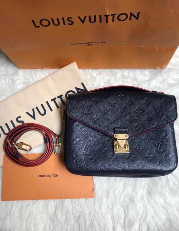 2929acc97b Louis Vuitton Pochette Metis Empreinte Navy, Luxury, Bags & Wallets ...