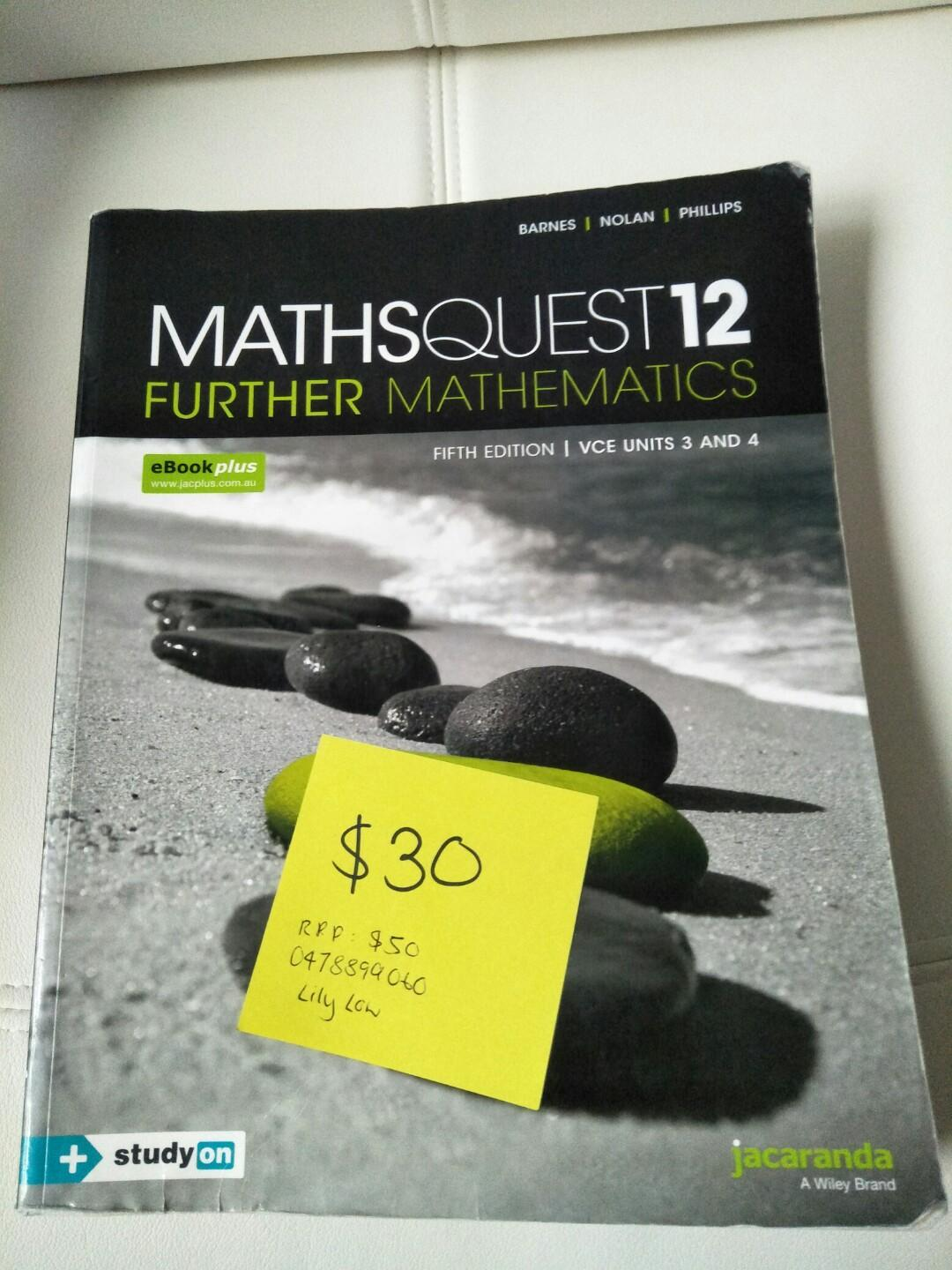 Math Quest Further math 12 5 fifth edition Units 3 and 4