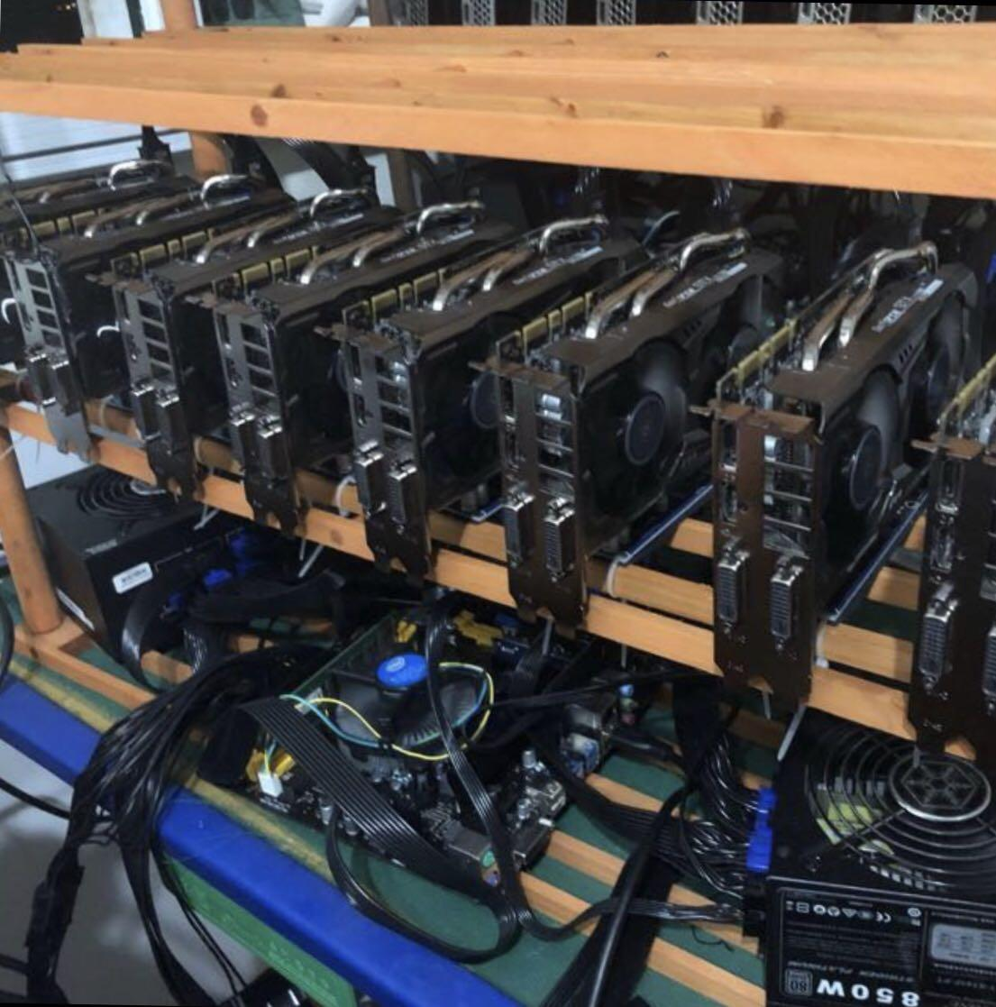 Mining rig for sale (8 x 1070), Electronics, Computers